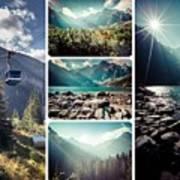 Collage Of Tatra Mountains  Art Print