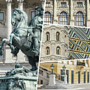 Collage Of Vienna Art Print