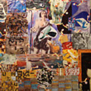 Collage with Munch Art Print