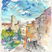 Colle D Val D Elsa In Italy 02 Art Print