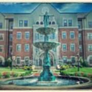 College Fountain Art Print
