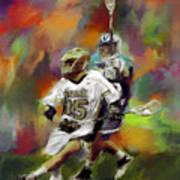 College Lacrosse 13 Art Print