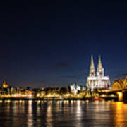Cologne At Night Art Print by Alexandra-Emily Kokova