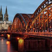 Cologne Cathedral At Dusk Art Print