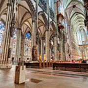Cologne Cathedral Interior Art Print