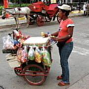 Colombia Srteet Cart Art Print