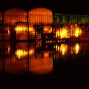 Colonial Beach Docks After Dark Art Print