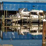 Colonial Beach Marina Art Print
