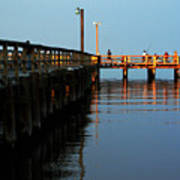 Colonial Beach Town Pier Art Print