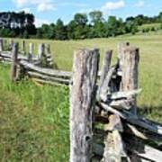 Colonial Fence At The Home Of Booker T Washington Art Print
