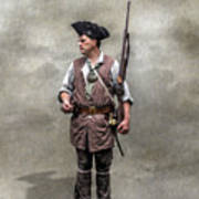Colonial Militia Soldier 1777 Art Print