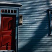 Colonial Red Door Newport Rhode Island Art Print