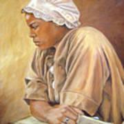 Colonial Serving Girl Art Print