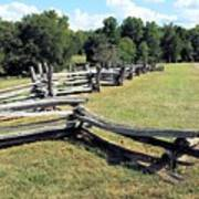 Colonial Zig Zag Fence At Booker T Washingtons Home Art Print