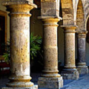Colonnades Print by Mexicolors Art Photography