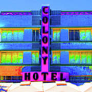Colony Hotel Palm Art Print