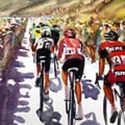 Color And Movement At Le Tour De France Art Print