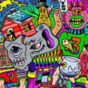 Color Bash Acid Tweeter Art Print