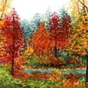 Color Burst Forest Art Print