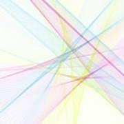 Color Computer Graphic Line Pattern Art Print