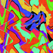 Color Drawing Abstract #3 Art Print