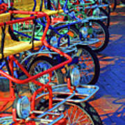 Color Of Bikes Art Print