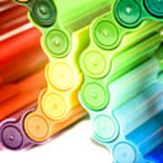 Color Pens 3 Art Print