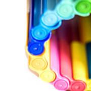 Color Pens 8 Art Print