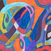 Color Rush Art Print