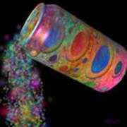 Color Spill Art Print