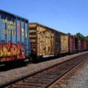Color Train Art Print
