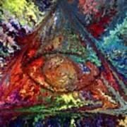 Color Triangle Art Print