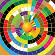 Color Wheel Art Print