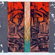 Color25 Monoprint Art Print