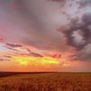 Colorado Eastern Plains Sunset Sky Art Print