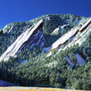 All Five Colorado Flatirons Art Print