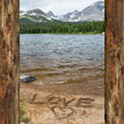 Colorado Love Window  Art Print