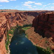 Colorado River At Glen Canyon Dam Art Print