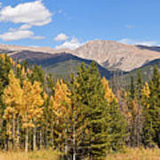 Colorado Rockies National Park Fall Foliage Panorama Art Print