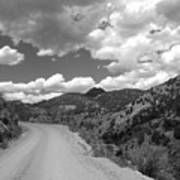 Colorado Shelf Road 1 B-w Art Print
