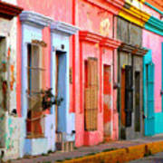 Colored Casas By Darian Day Art Print