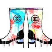 Colored Chanel Boots Art Print