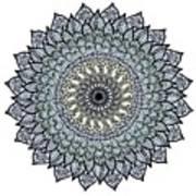 Colored Flower Zentangle Art Print