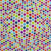 Colored Geometries Art Print