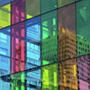 Colored Glass 10 Art Print