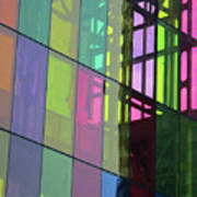Colored Glass 11 Art Print