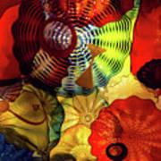 Colored Glass Art Art Print