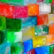 Colored Ice Bricks Art Print