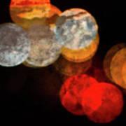 Colored Moons 1 Art Print