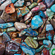 Colored Polished Stones Art Print